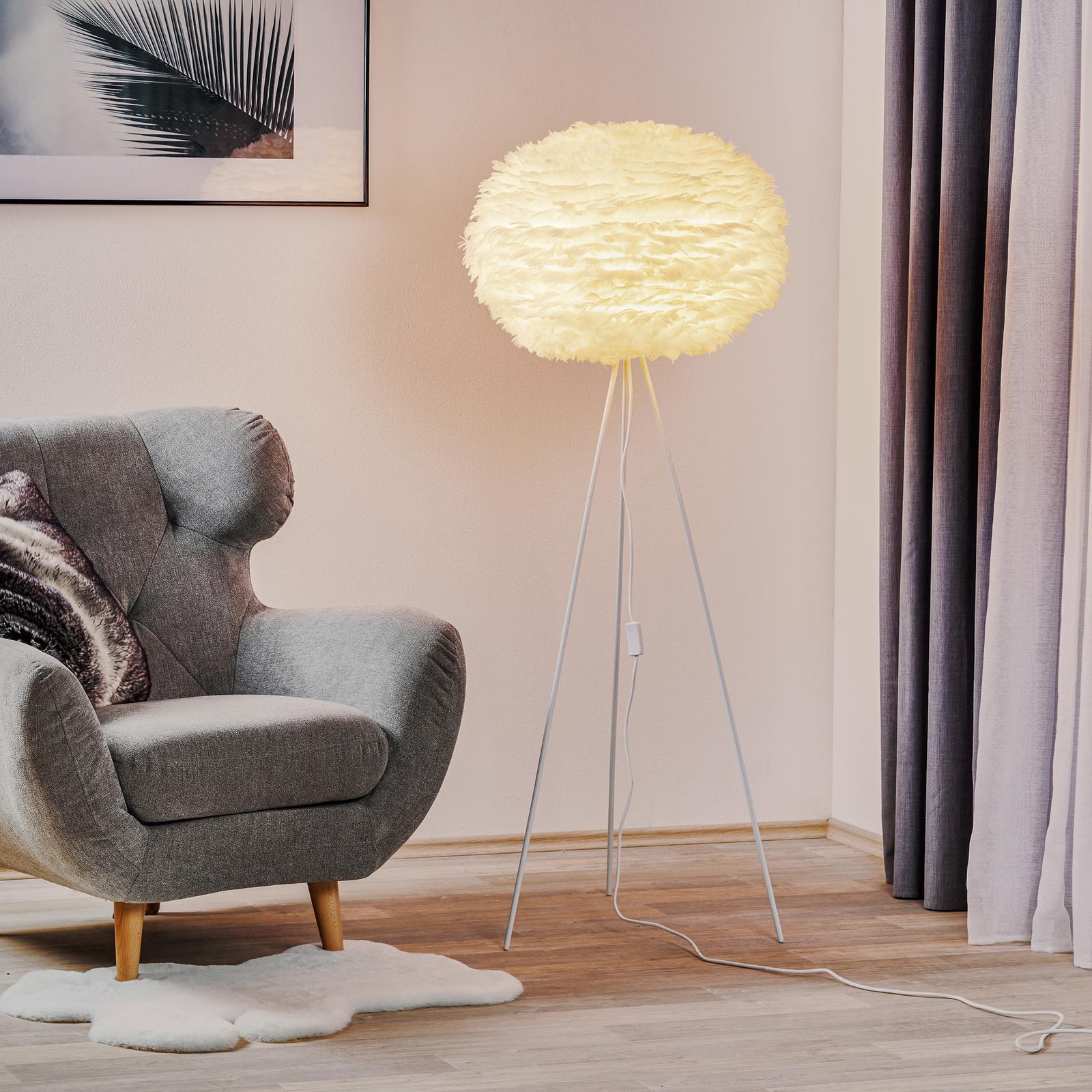 Skærm i hvid - 3-benet standerlampe Eos large