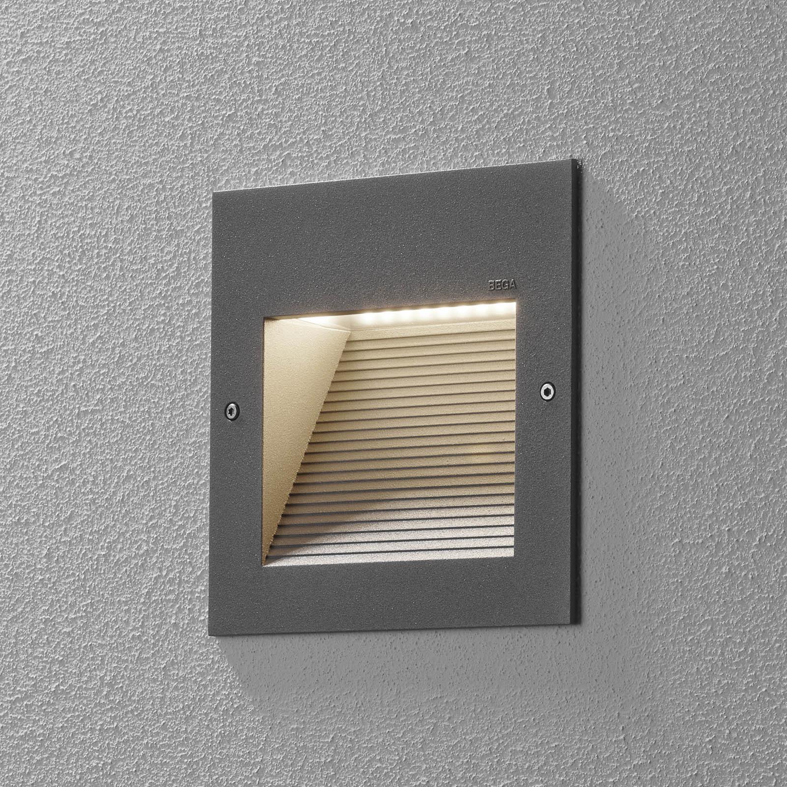 BEGA 24202 applique encastrée LED 3000K, argentée
