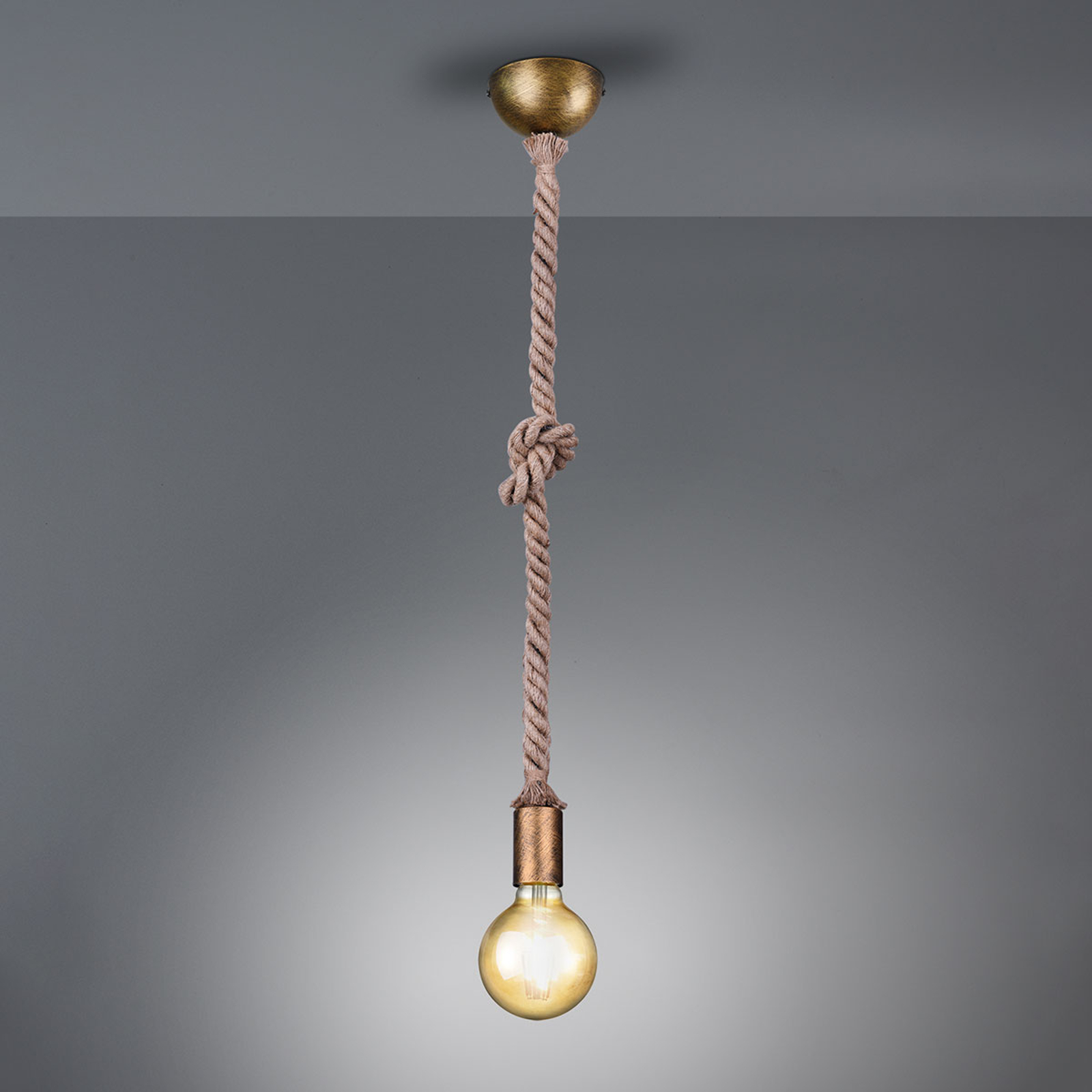 Pendellampe Rope mit dekorativem Seil 1-flammig