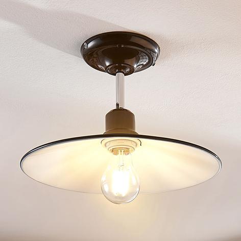Schwarze Metalldeckenlampe Phinea, Vintagelook