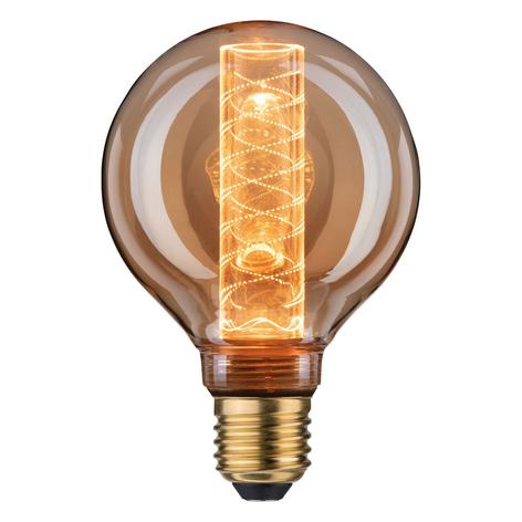 LED-globepære E27 4 W G95 InnerGlow spiralmønster