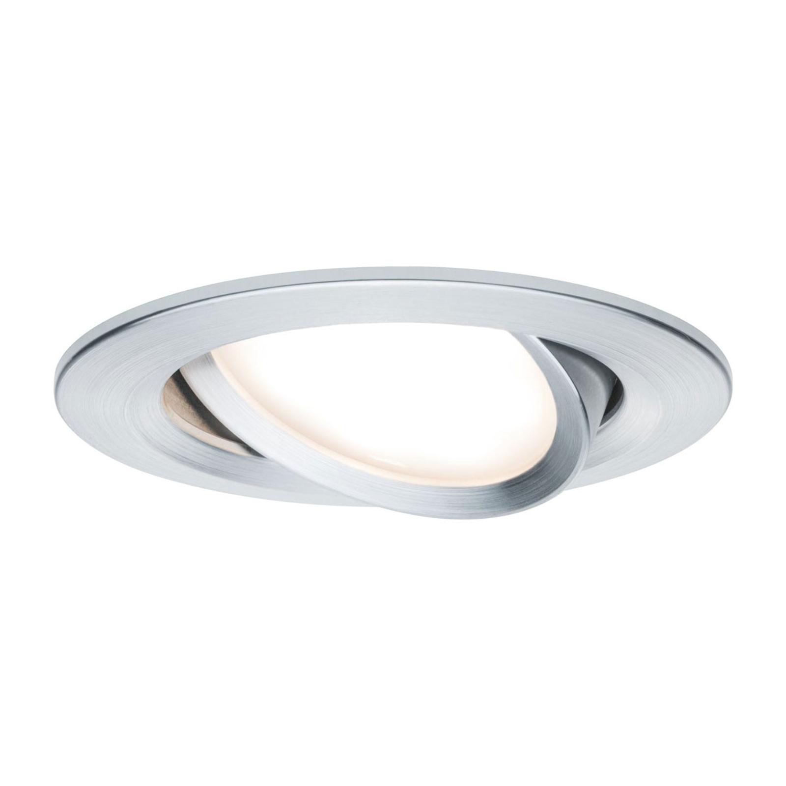 Paulmann spot Nova Coin rund, svängbar, aluminium