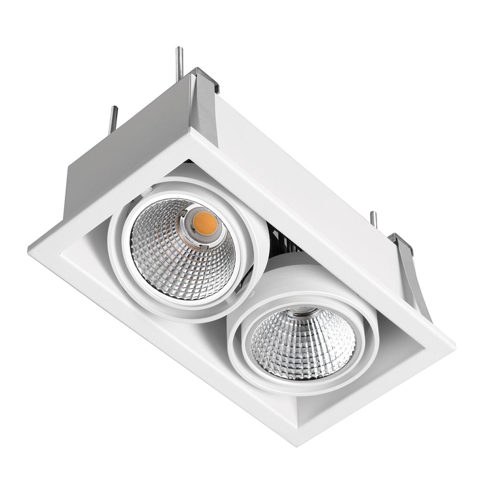 LED-Einbaustrahler Zipar Duo Recessed 39W, 4.000K
