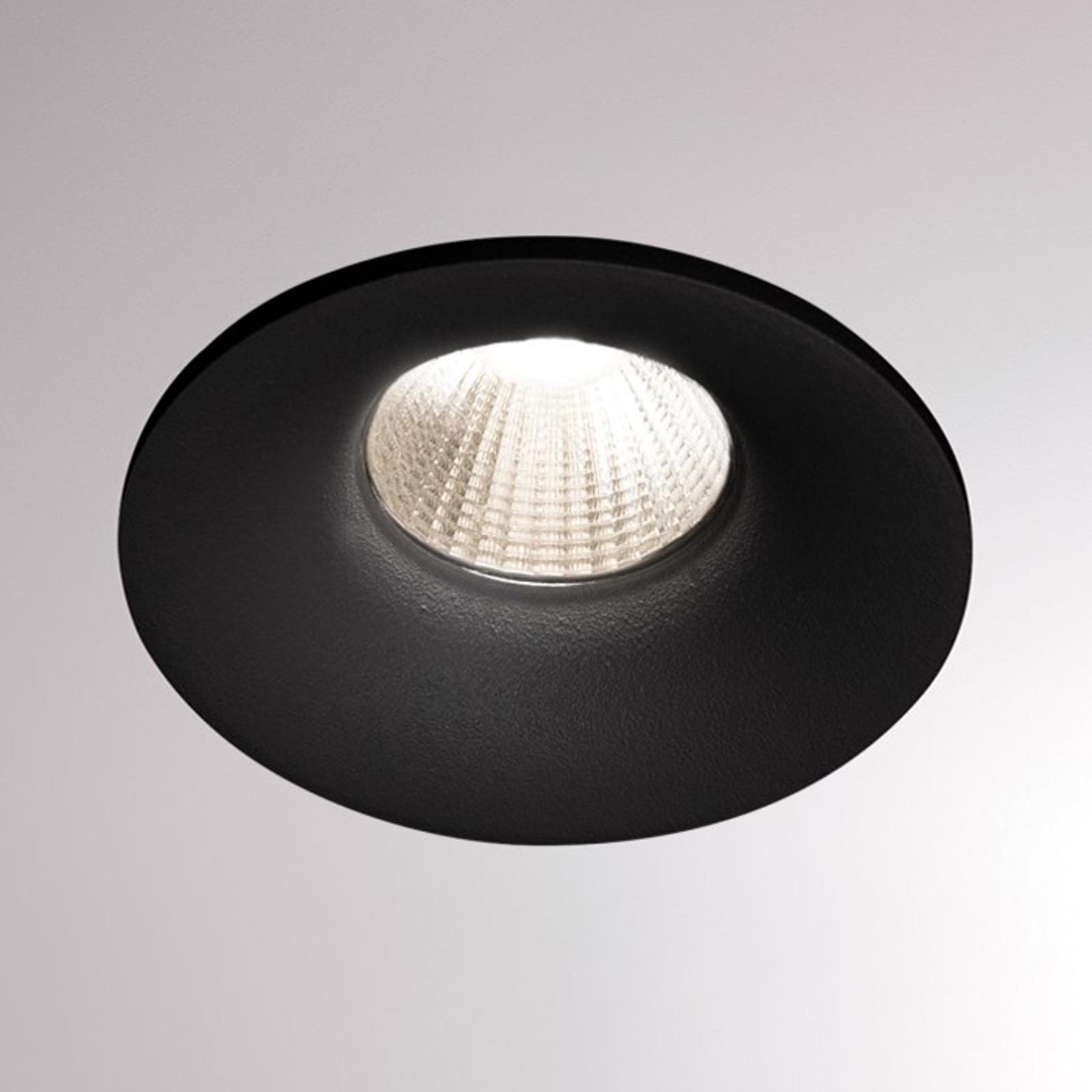 LED-Einbaustrahler Ivy Round 7W 3.000K 40° schwarz