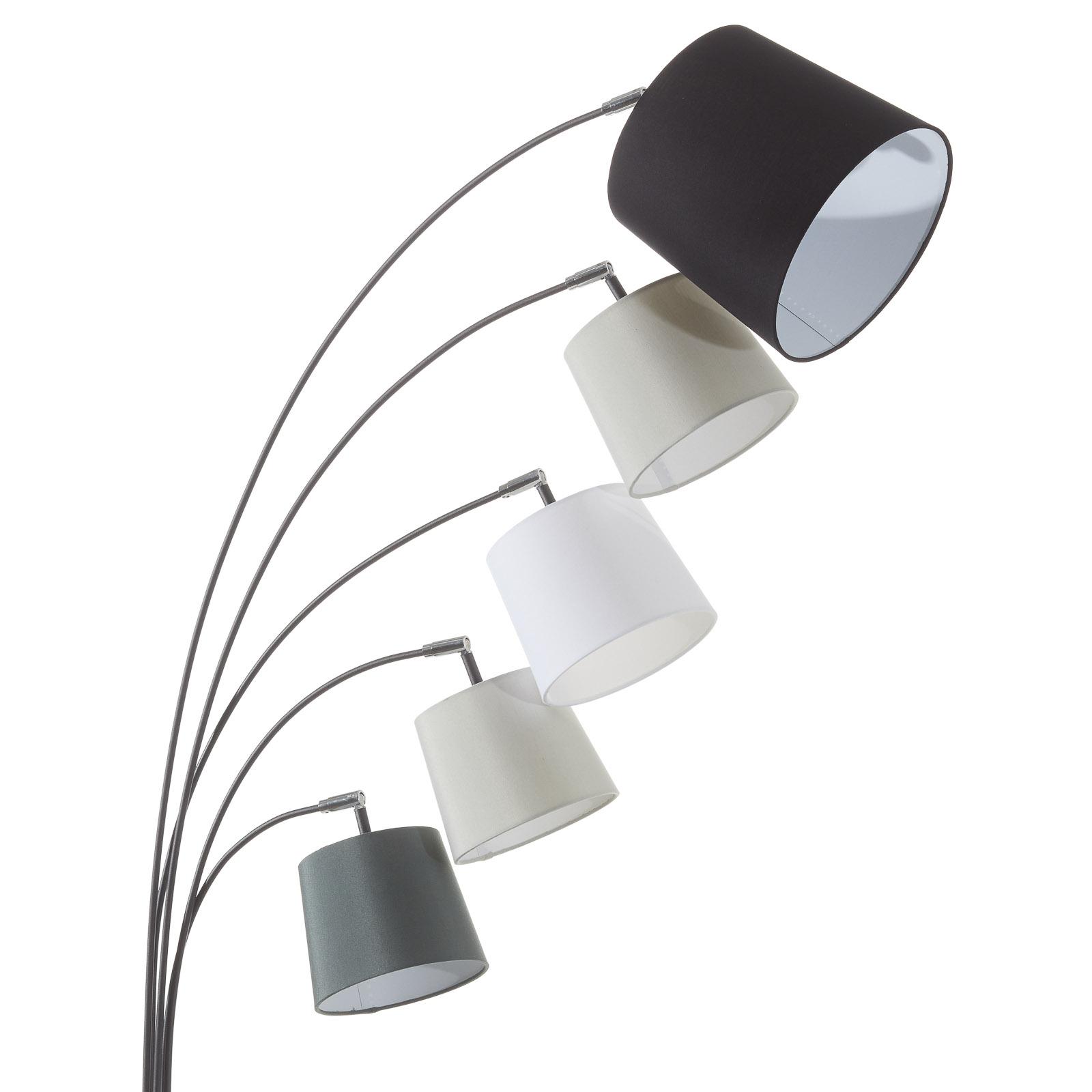 By Rydéns Foggy lámpara de pie, 5 pantallas, negro