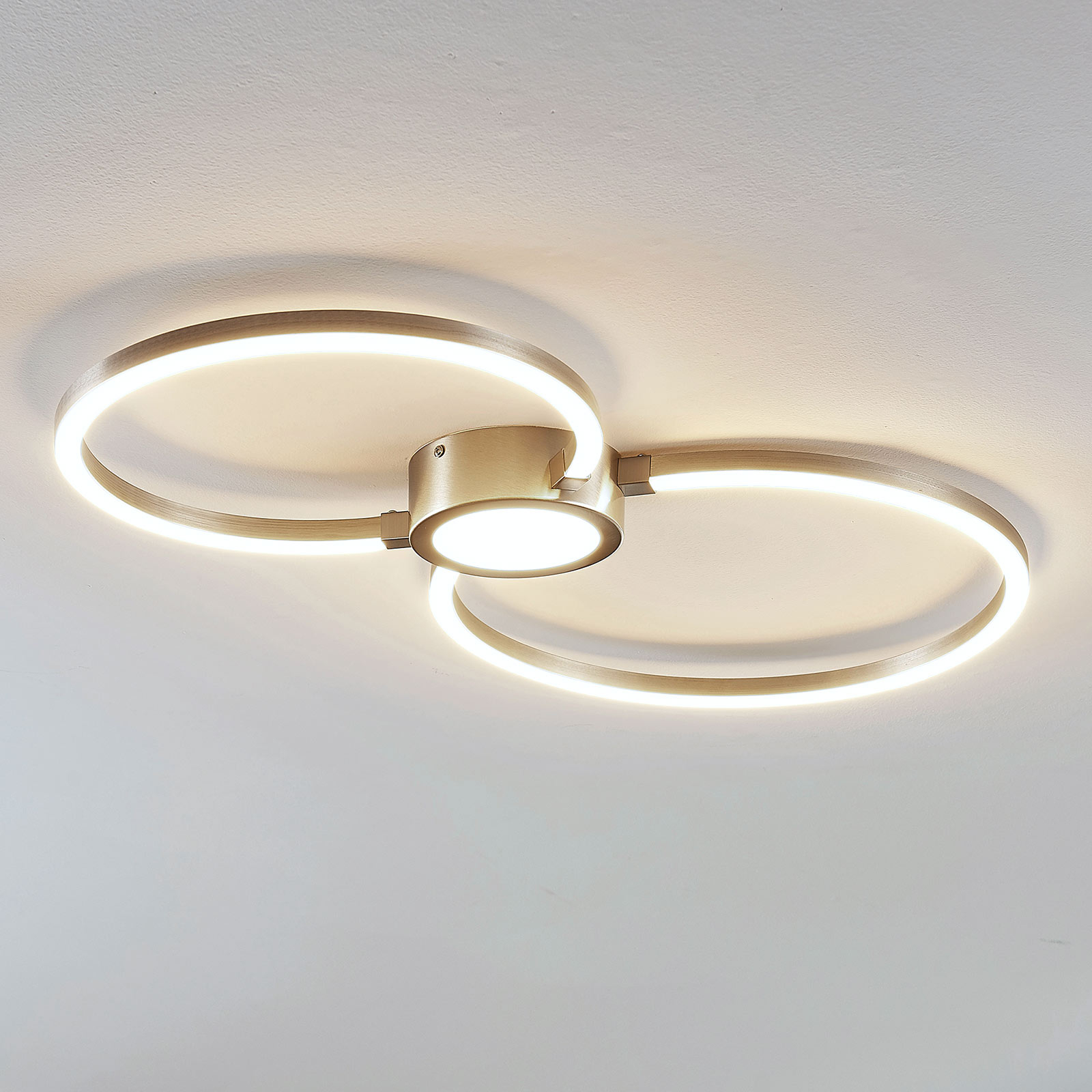 Plafonnier LED Duetto, cercles