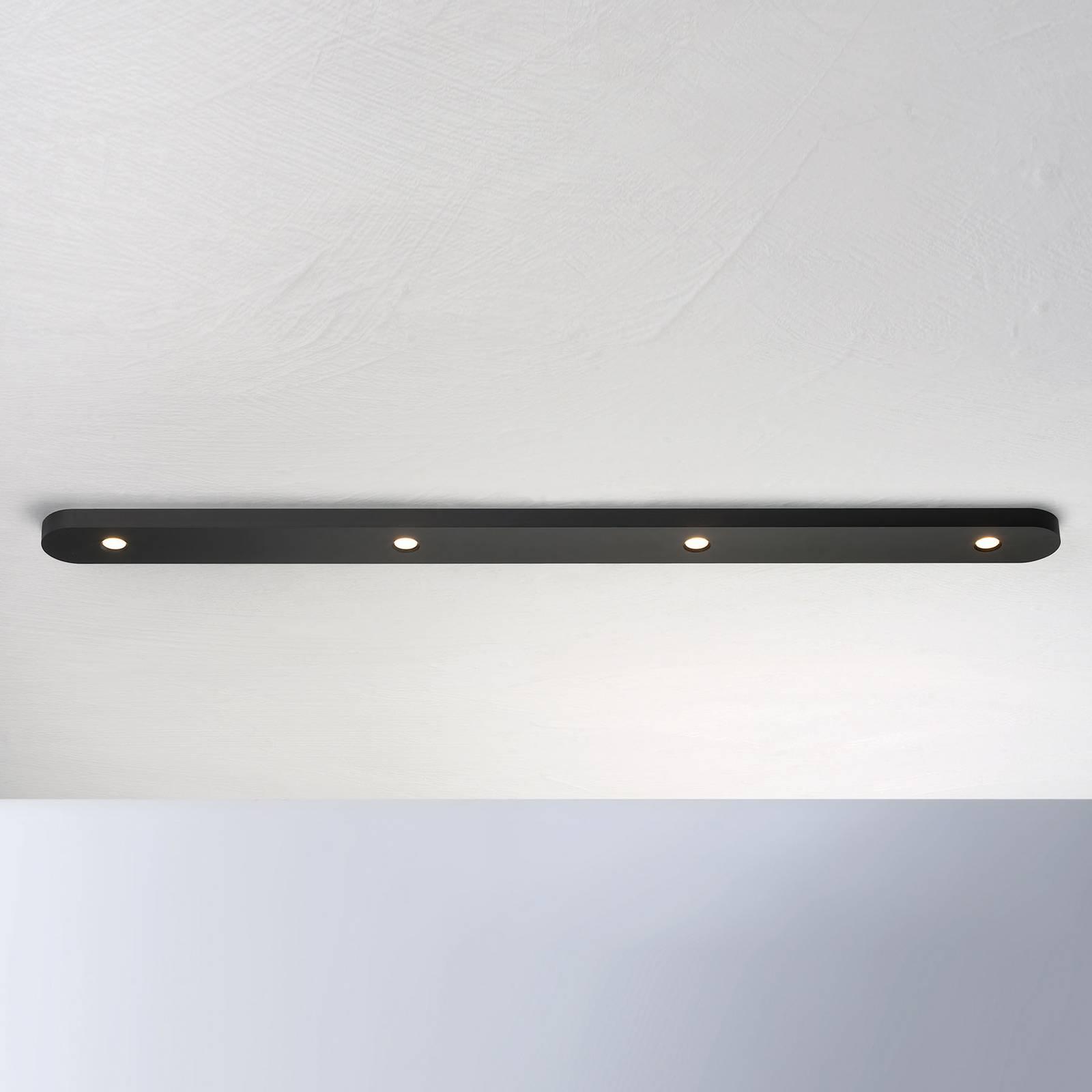 Bopp Close LED plafondlamp 4-lamps, zwart