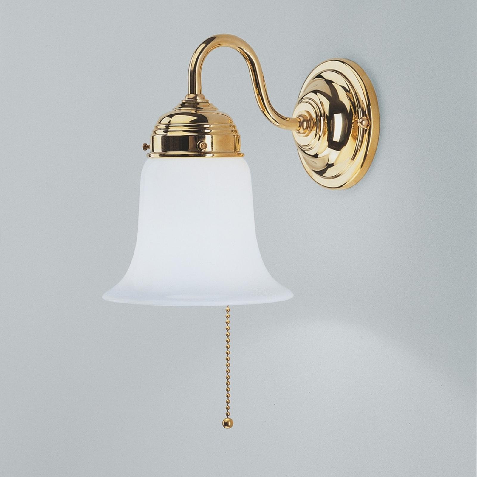 Lampada da parete Sibille in ottone lucido