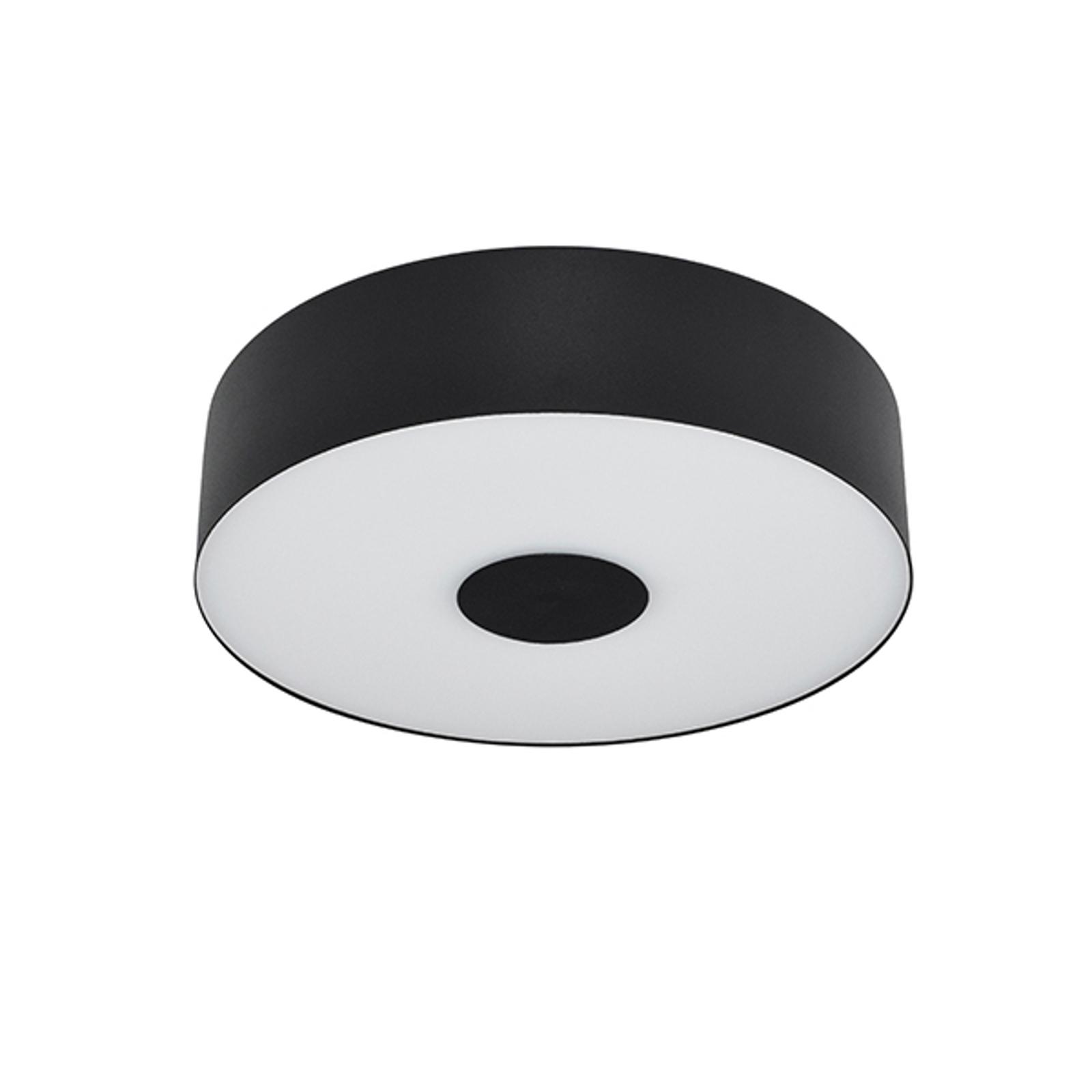 LED-taklampe Cleopatra i svart, Ø 30 cm