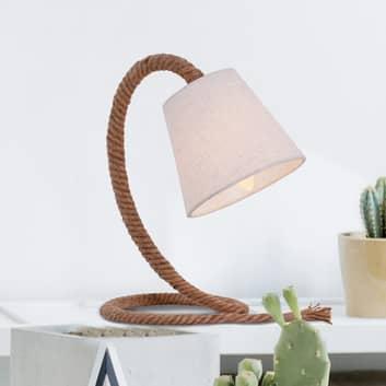 Stolní lampa Rope textilní stínidlo a lano