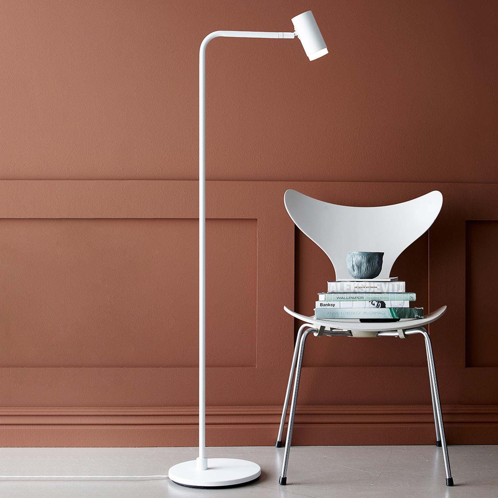 Cato Q LED-gulvlampe med dæmper, hvid