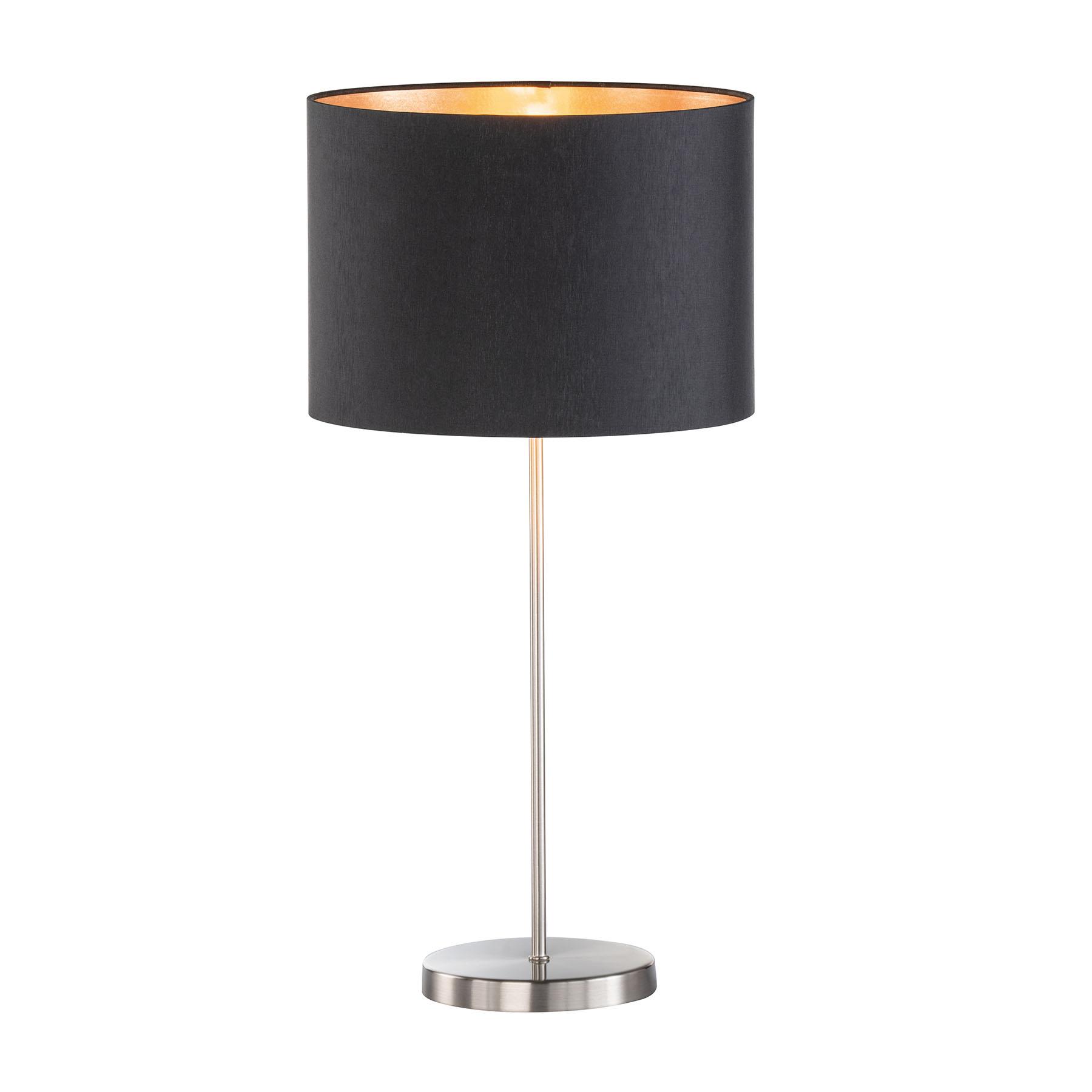 Tafellamp Loft met stoffen kap, zwart