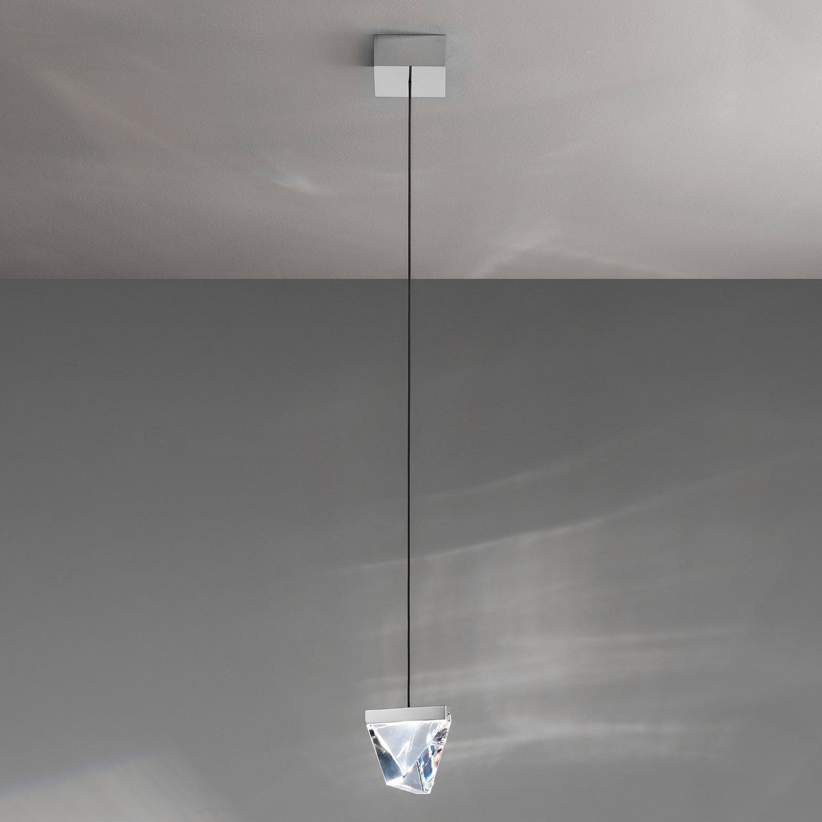 Fabbian Tripla LED-Hängeleuchte Kristall aluminium