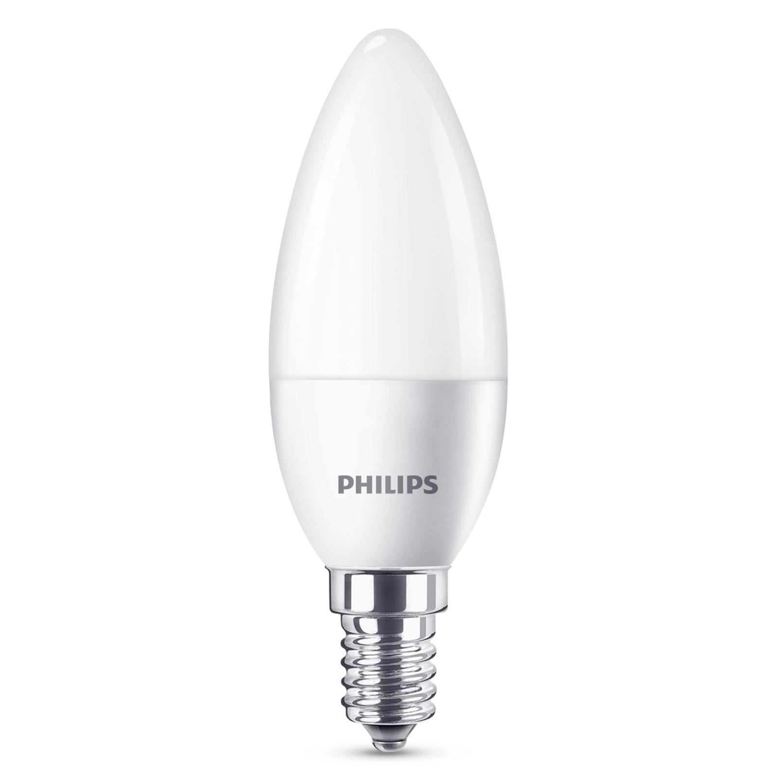 Philips E14 4,3W 840 LED-Kerzenlampe matt
