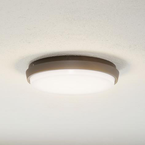 Lucande Amra LED buiten plafondlamp, rond, 24 cm