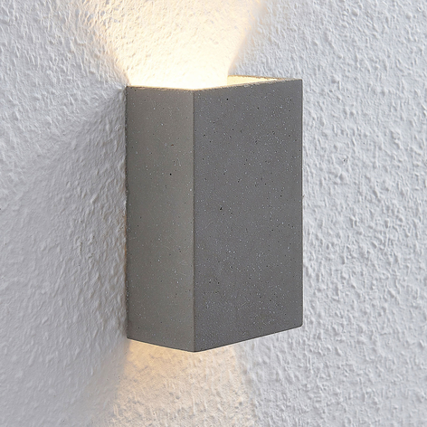 Lindby Albin LED wandlamp van beton