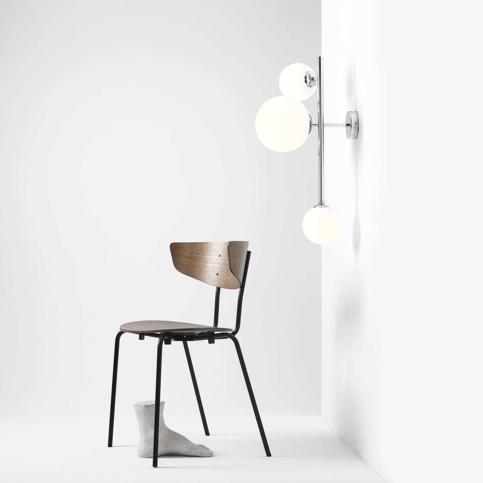 Wandlamp Dione, 3-lamps, chroom