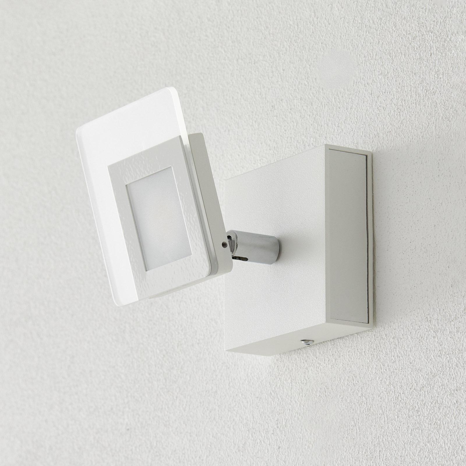 Hvit LED-veggspot Line
