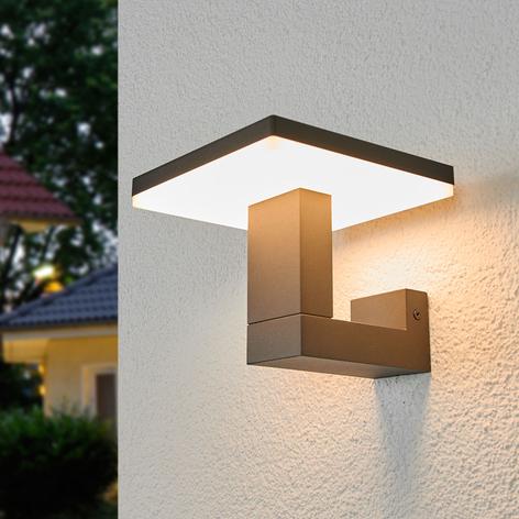 Venkovní nástěnné LED světlo Olesia, hranatý tvar