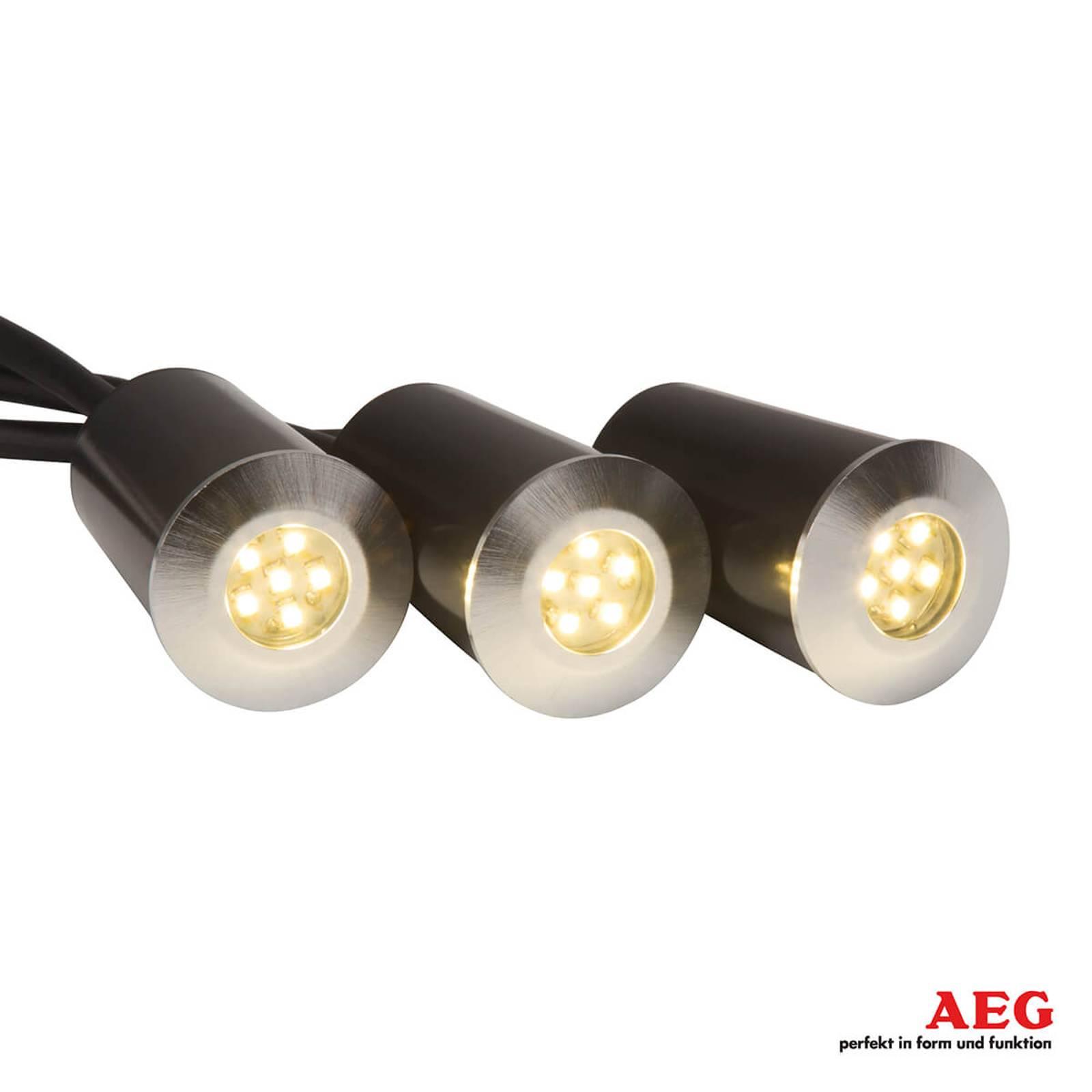 Spot LED encastrable dans le sol Albedo, 3 pièces