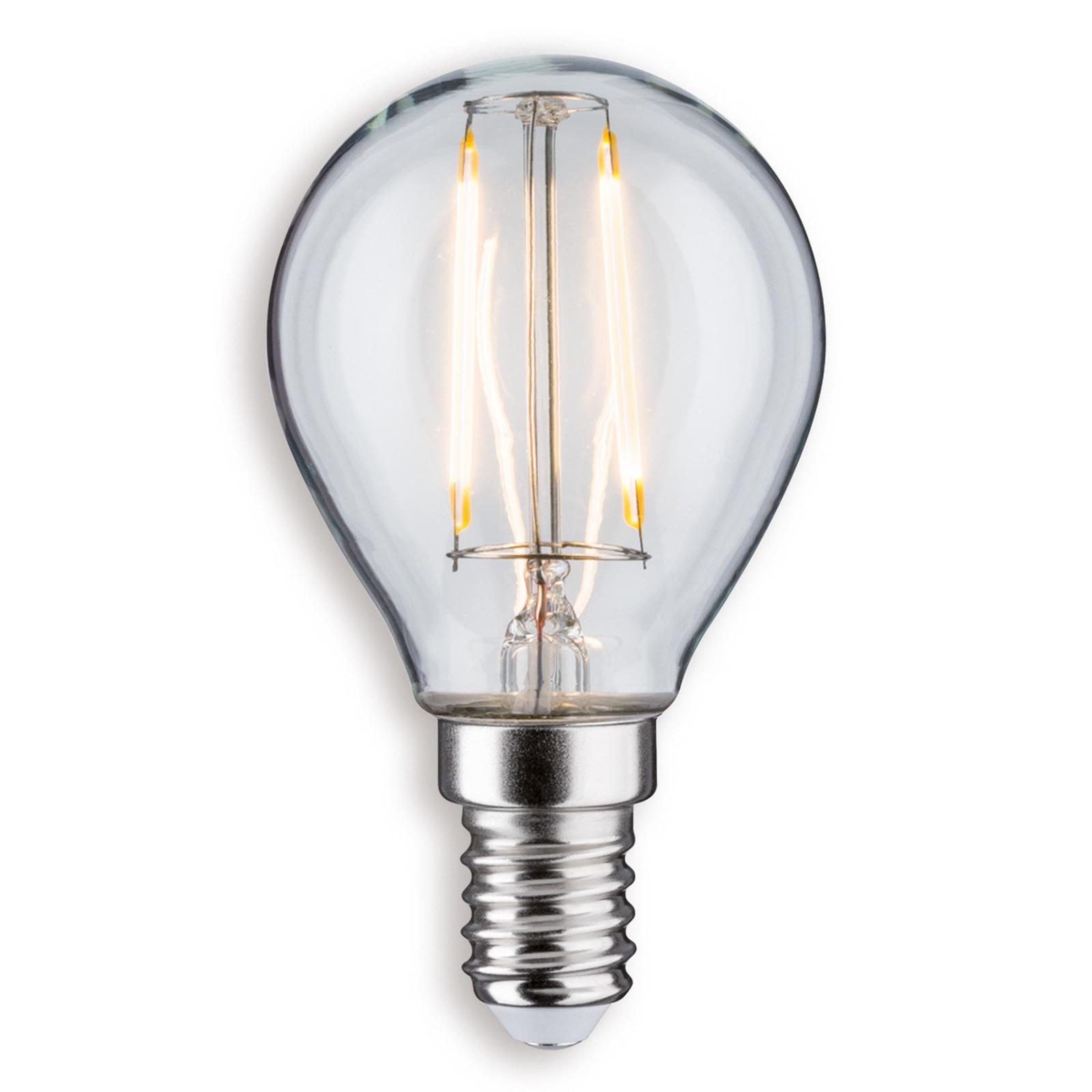 E14 2,5W 827 LED-dråpelampe