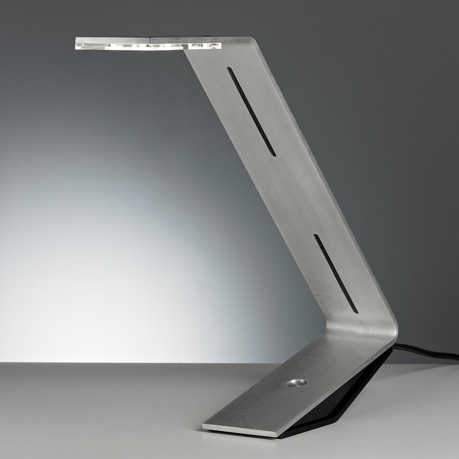TECNOLUMEN Flad - LED-bordlampe, sølvgrå