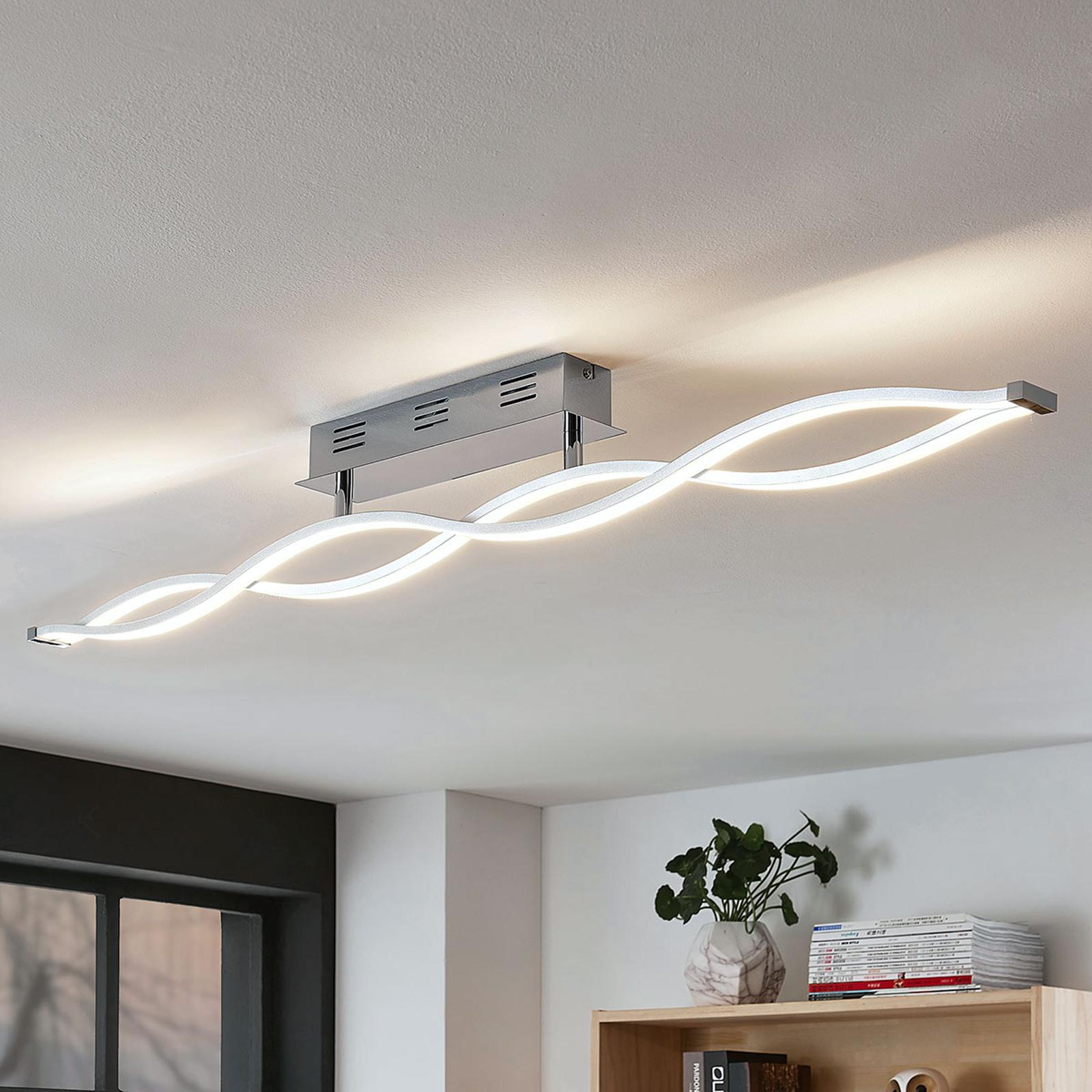 Lampa sufitowa LED Roan, o kształcie fali