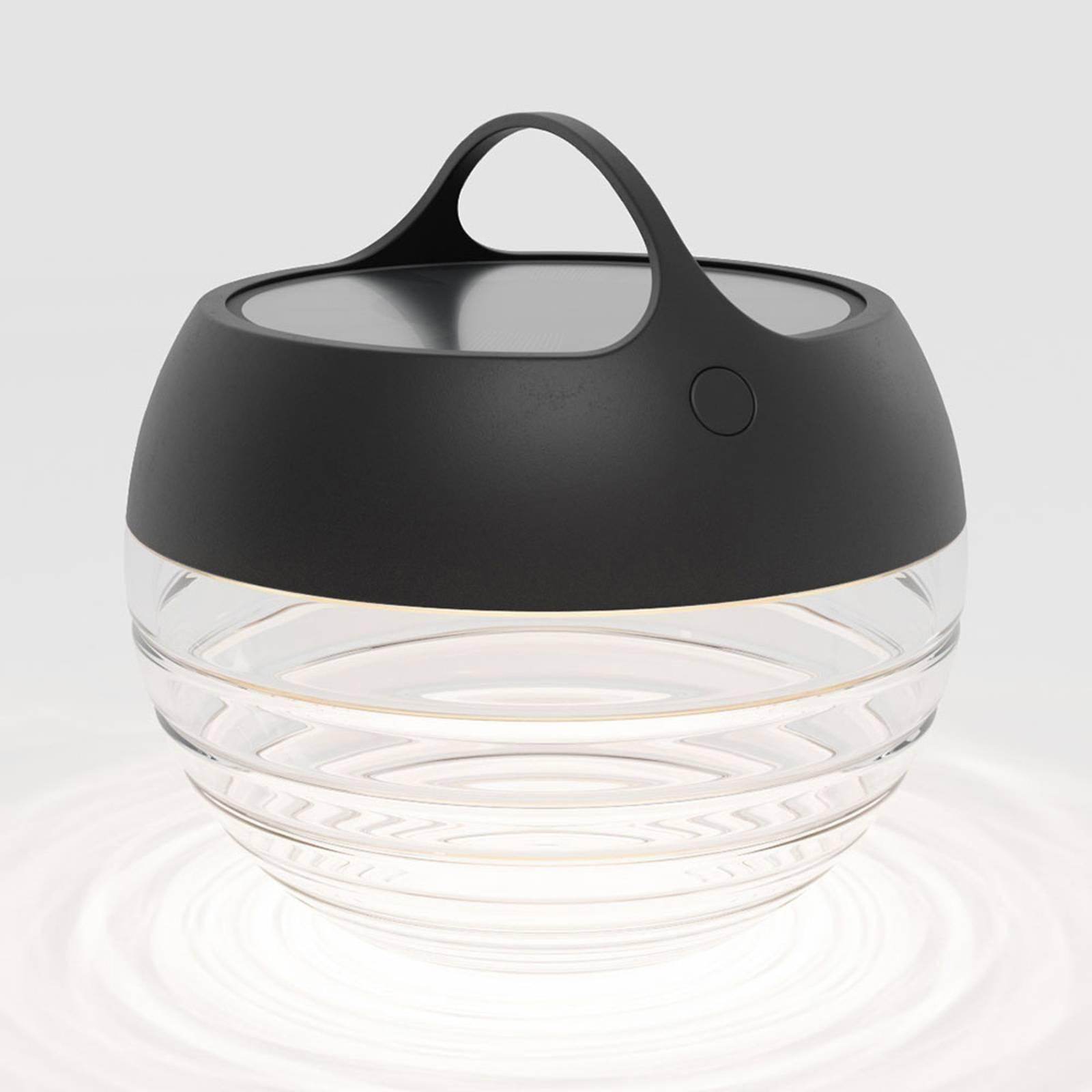 IP44.de aqu S lampa solarna LED, 23 cm czarna