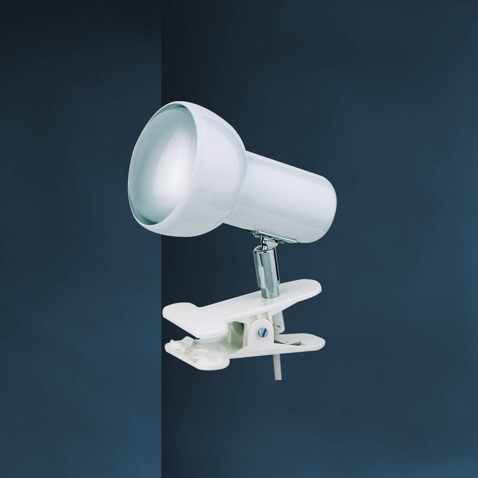 Witte klemlamp EIFEL