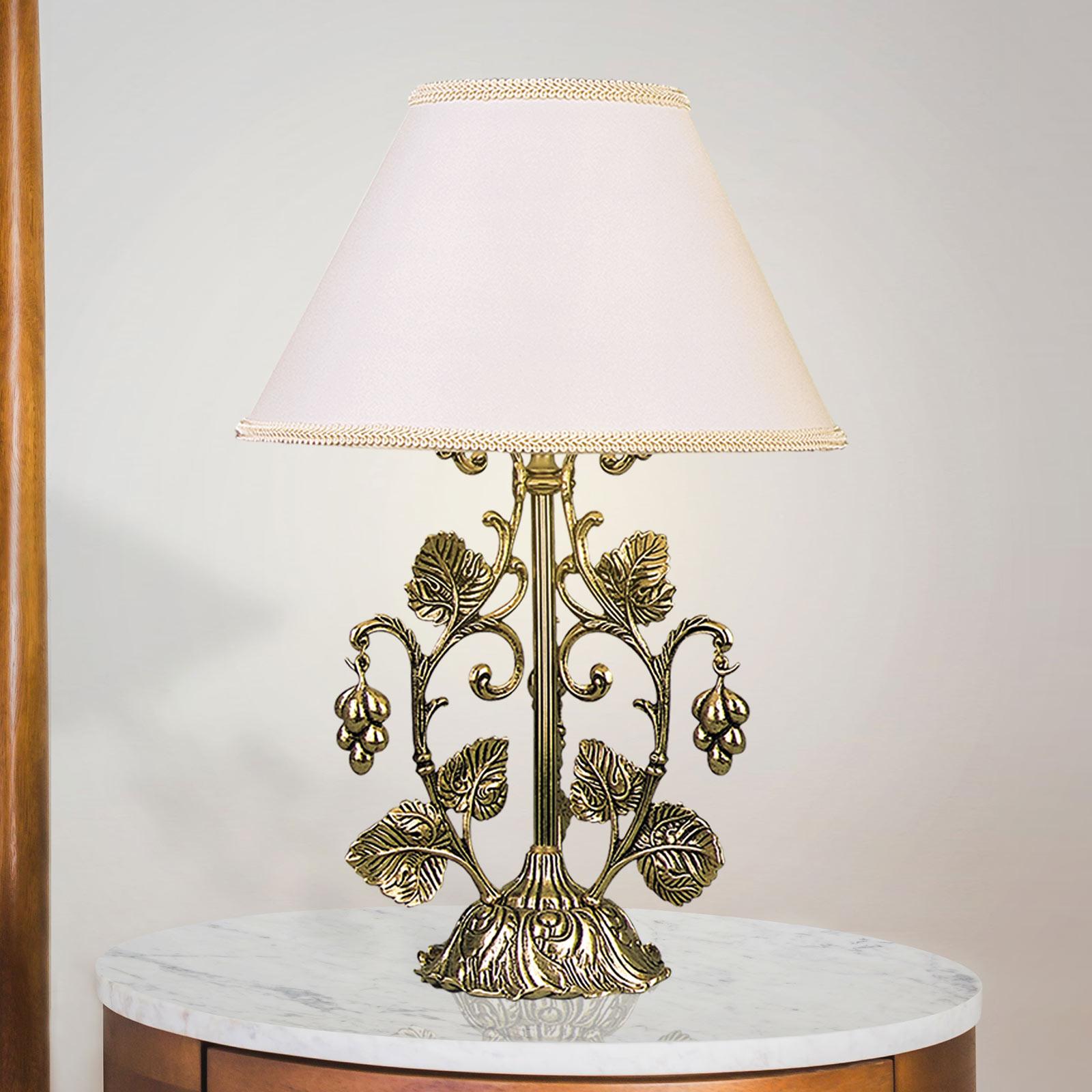 Lampe à poser Albero dorée brunie polie, blanche