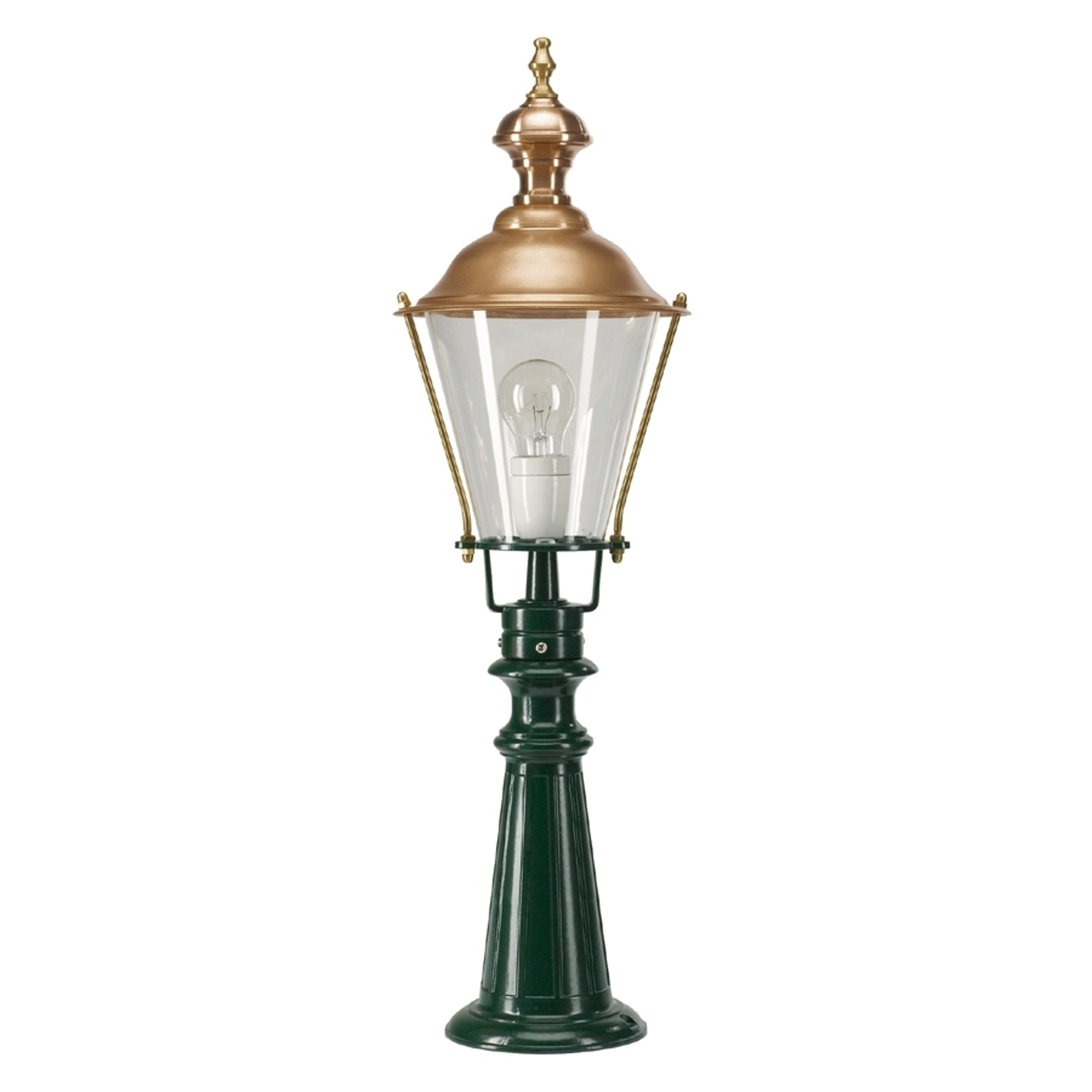 Tradycyjny słupek oświetleniowy Pantar, zielony
