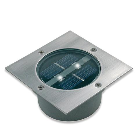 Foco suelo LED empotrado solar Lugo cuadrado IP44