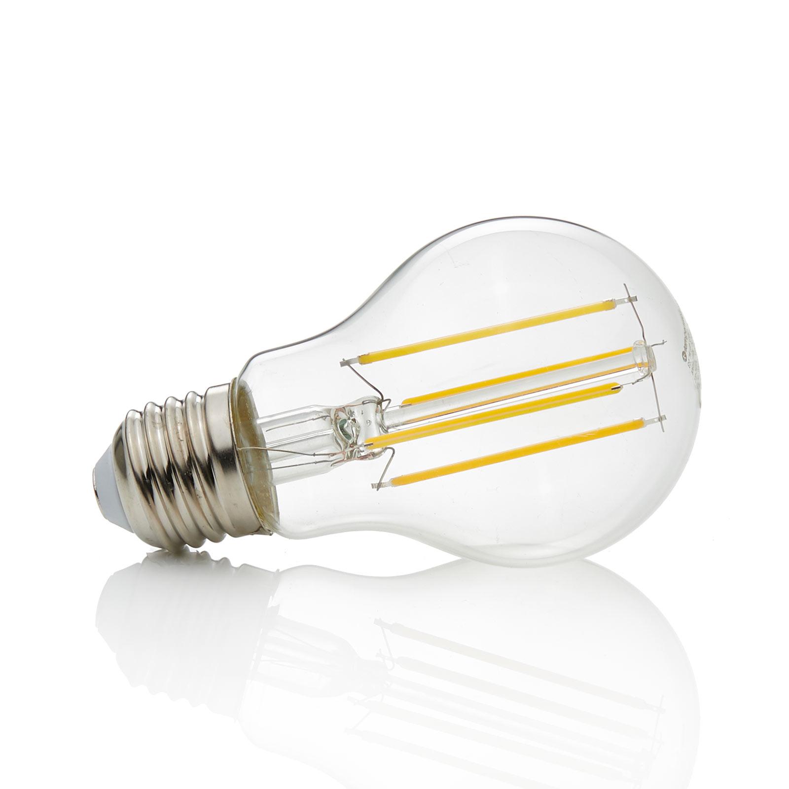 E27 LED-pære filament 7W, 806Lm, 2.700K, klar