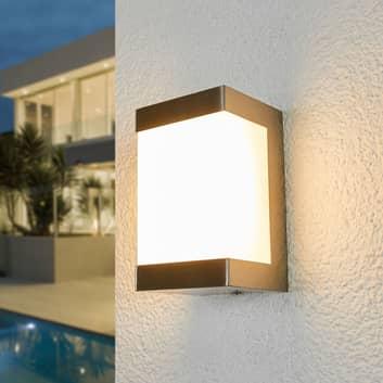 Aplique LED de exterior Severina, acero inoxidable