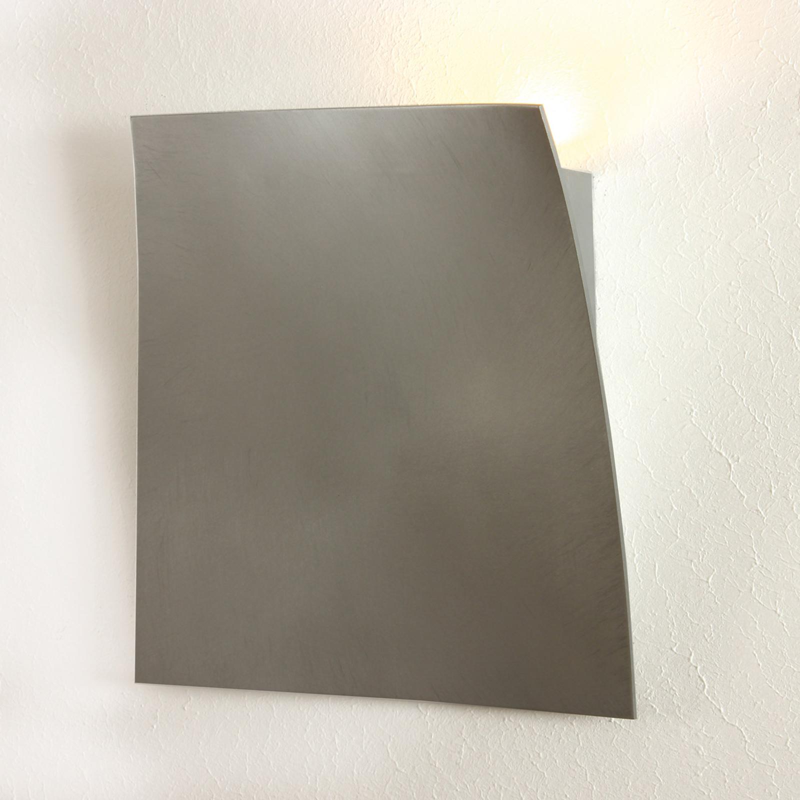 Lampa ścienna LED Gap ze szlifowanego aluminium