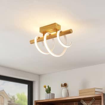 Lucande Milora LED-Deckenlampe 40 cm, eiche