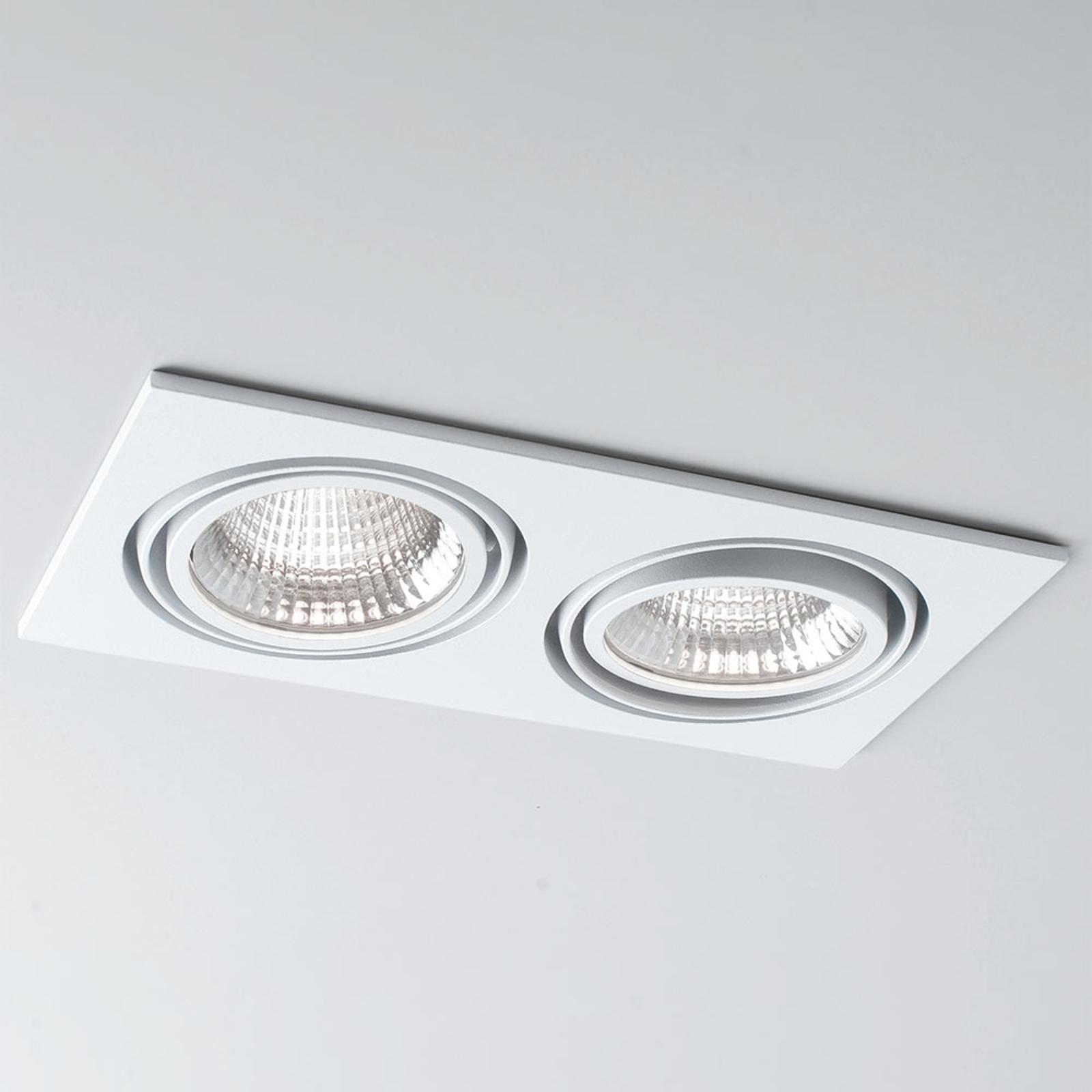 LED-Einbau Now 2 Square Double weiß 3.000K 2fl 25°
