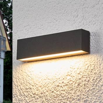 Elvira - grafitgrå LED udendørs væglampe med IP65