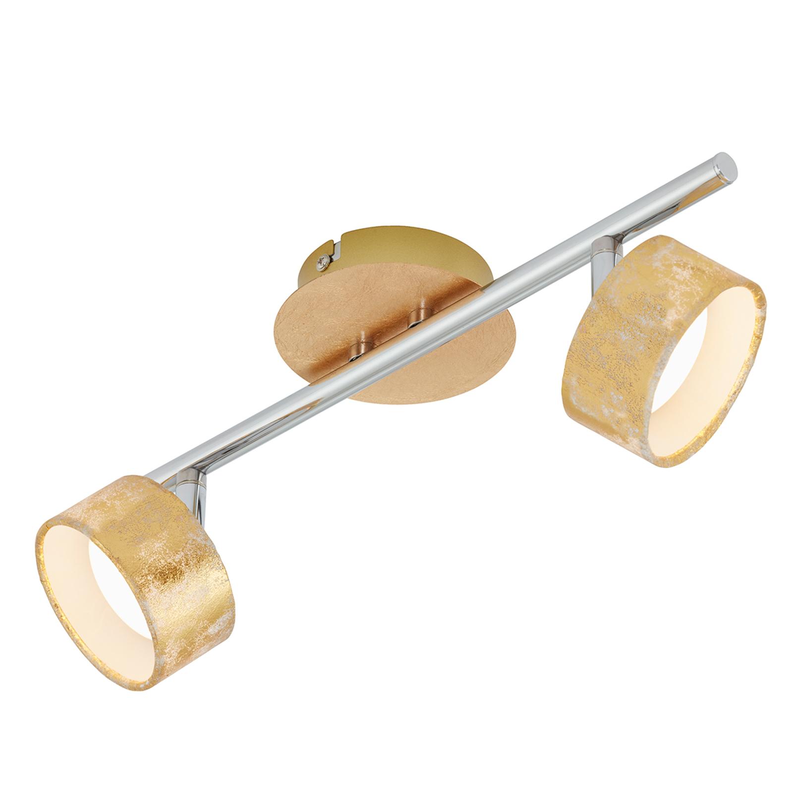 Acquista Faretto LED da soffitto Anna, 2 luci in oro
