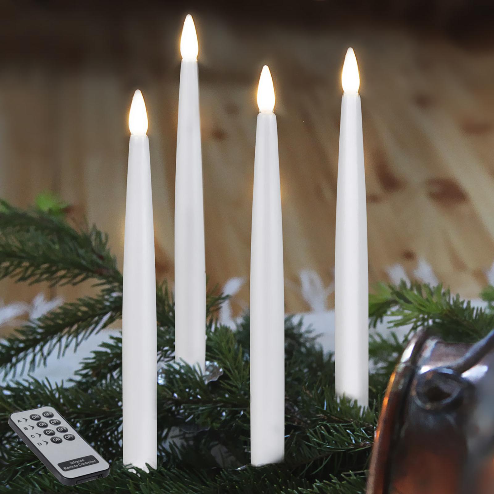 Candele natalizie LED da interni, set da 4