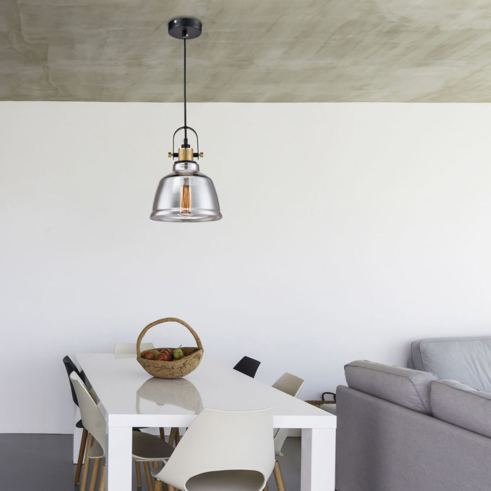 Irving - lampa wisząca w stylu vintage ze szkła