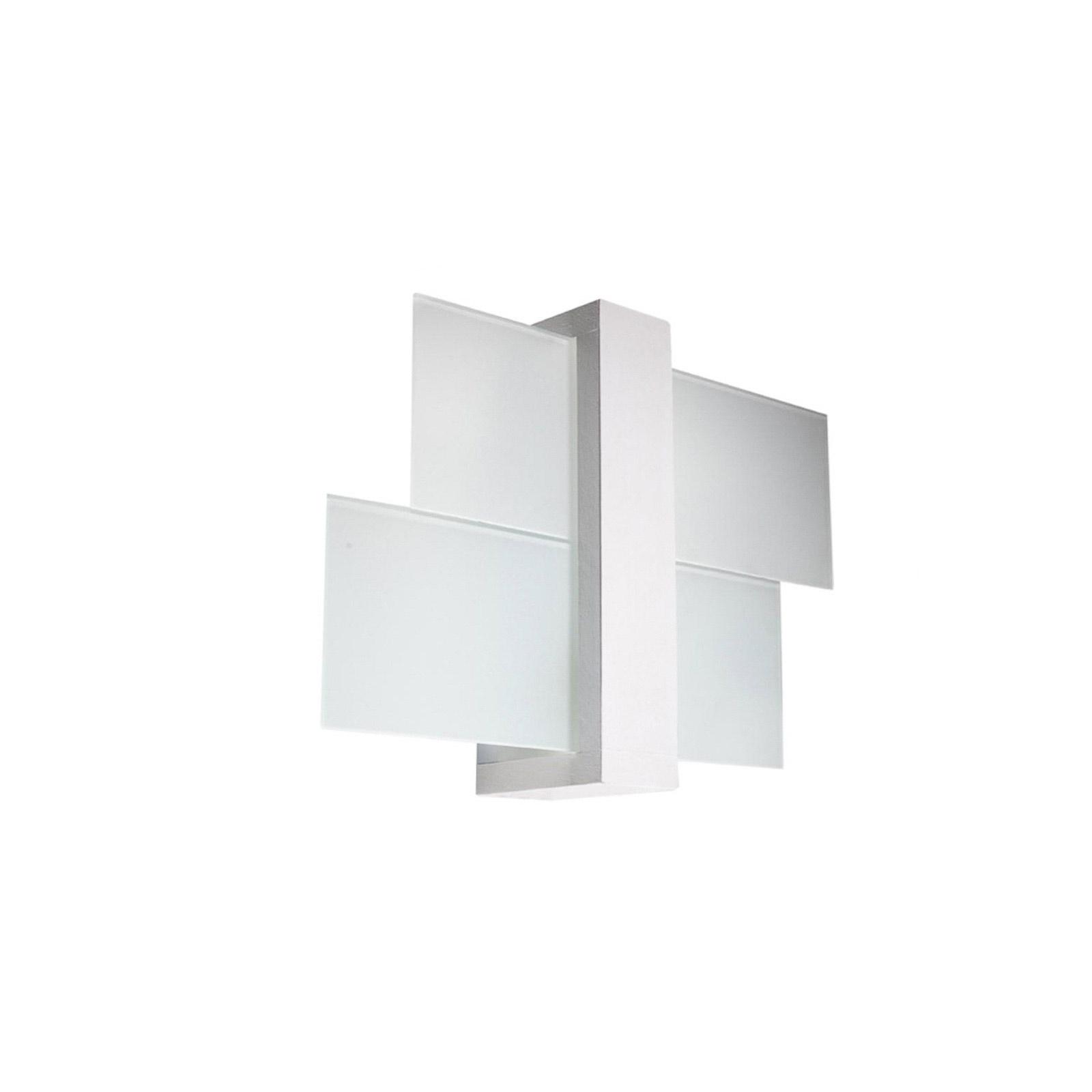 Wandleuchte Shifted 1, Glas, weiß
