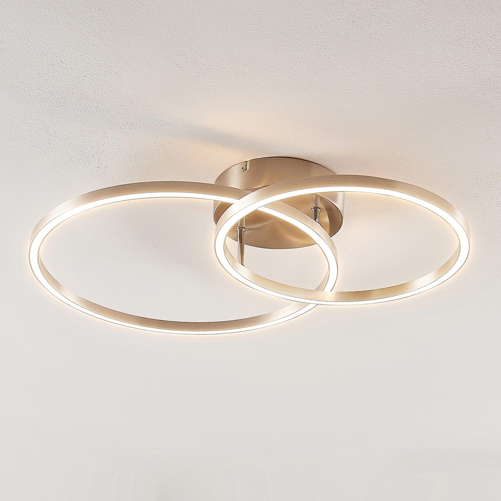Lindby Sarafia LED-Deckenleuchte aus zwei Ringen