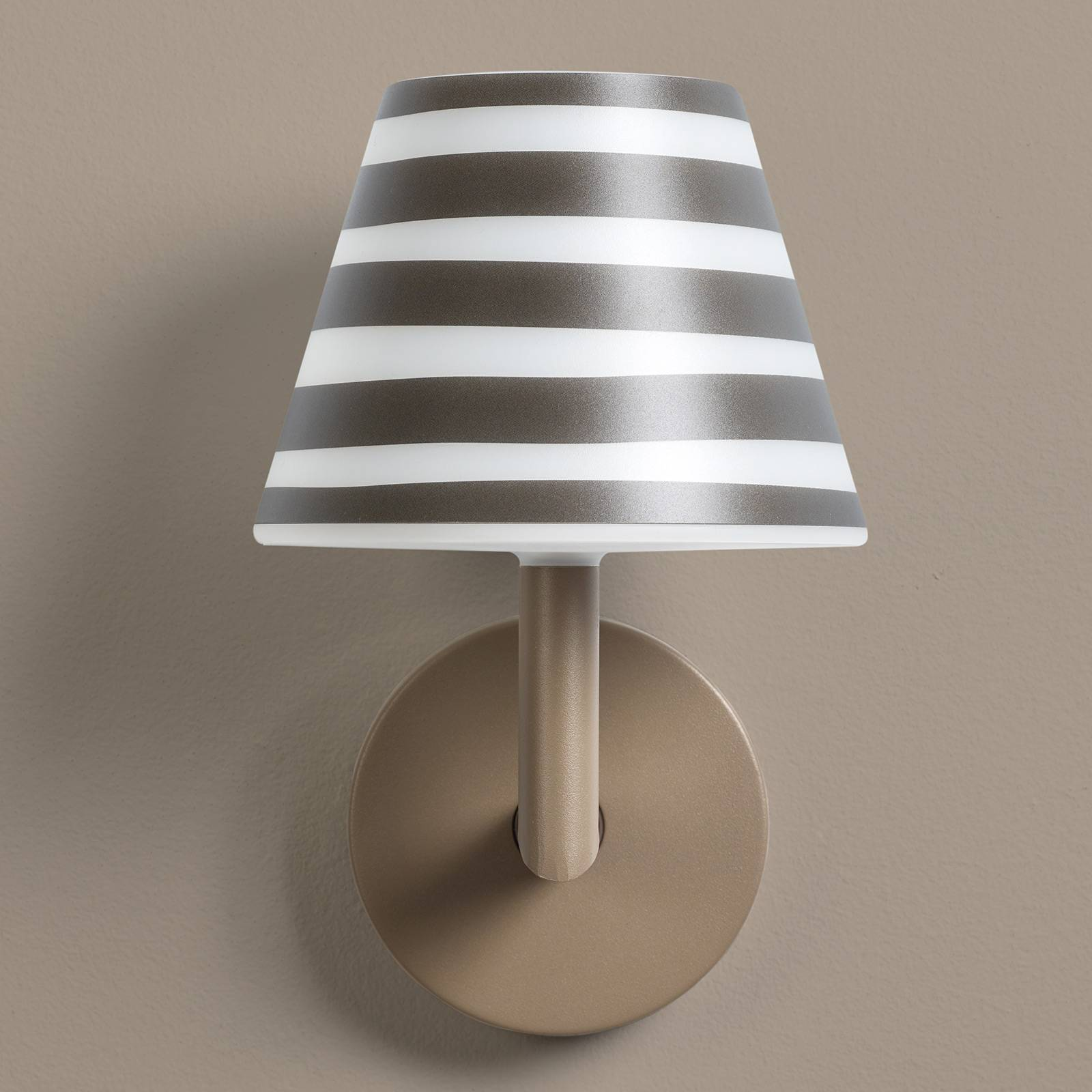 Fatboy LED-Wandleuchte Add the Wally taupe