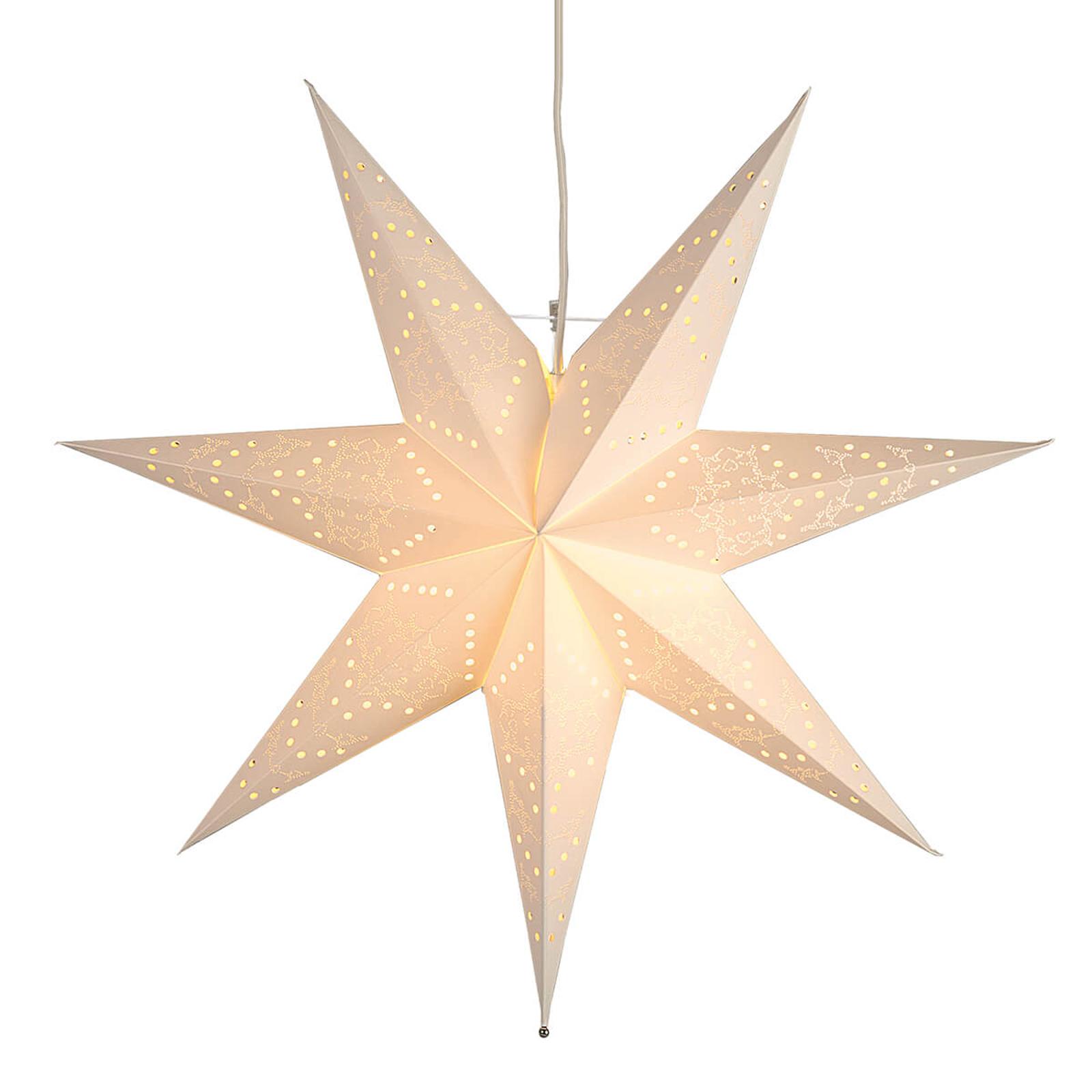 Papierowa gwiazda Sensy z wzorem, wisząca
