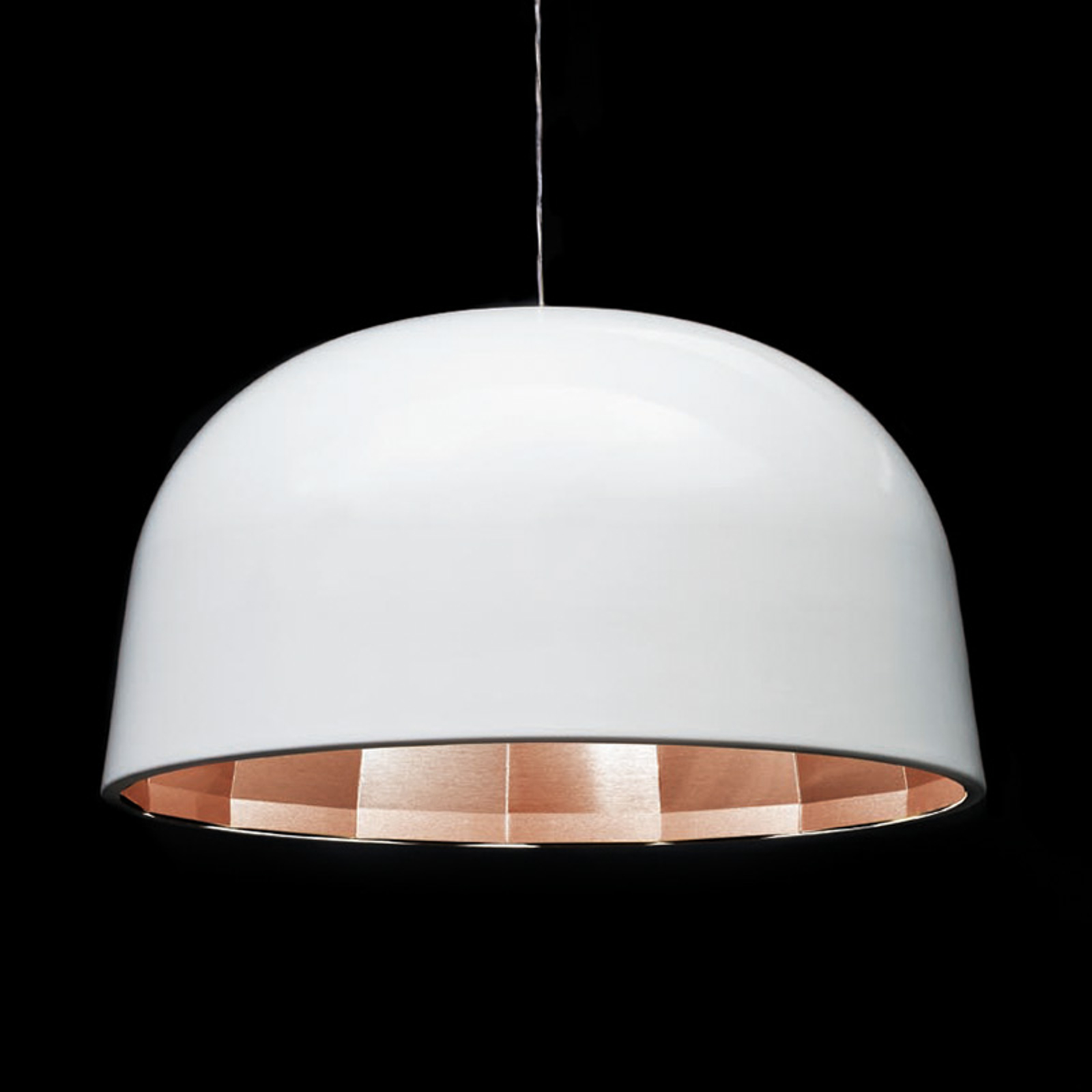 Lampada LED a sospensione Empty, 59 cm, in bianco