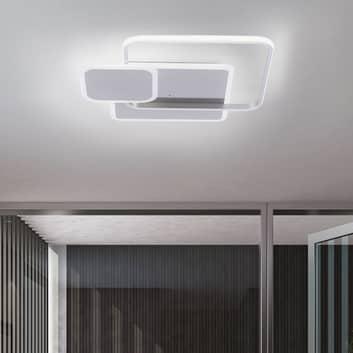LED-taklampe Emilio med fjernkontroll, kantet