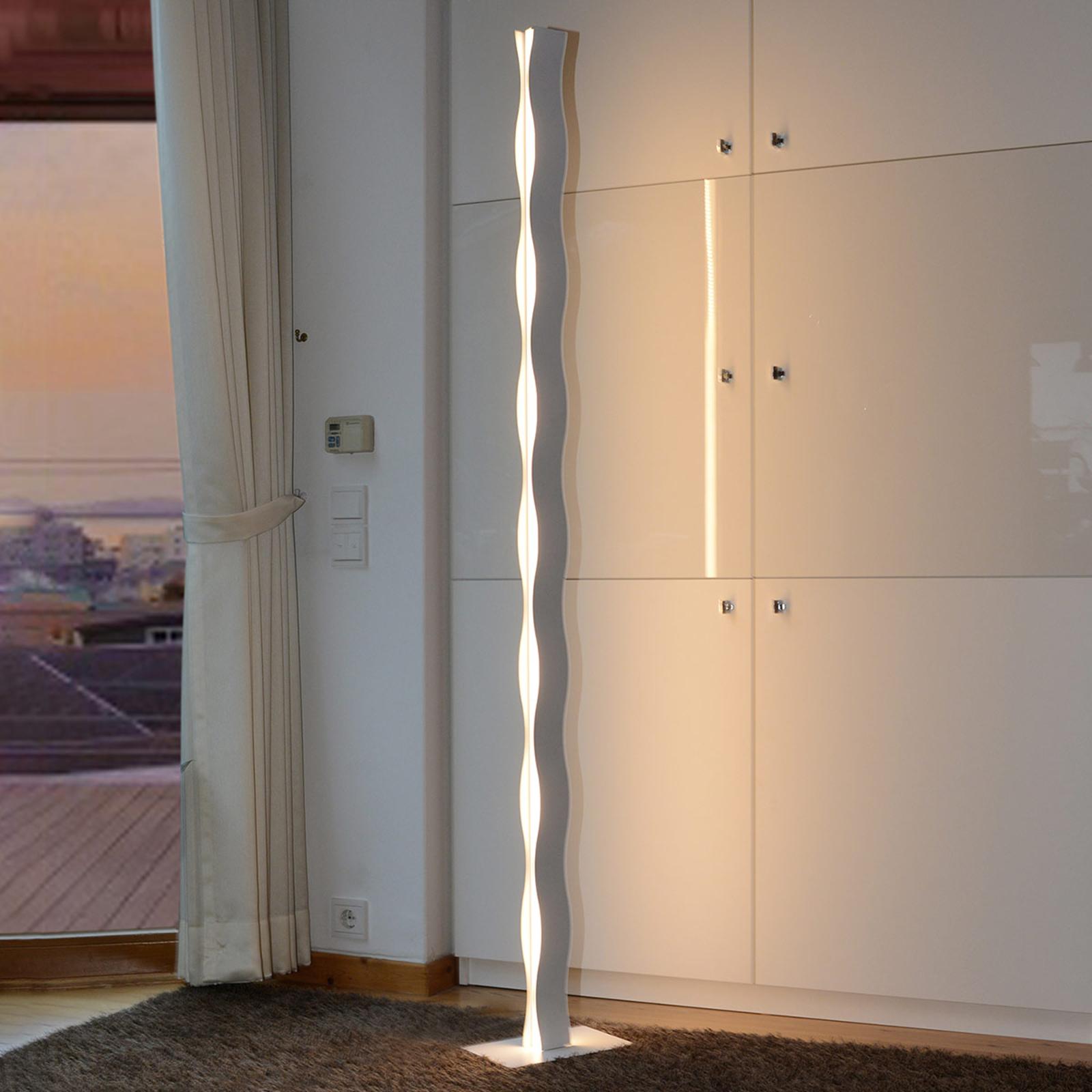 LED vloerlamp Wave wit