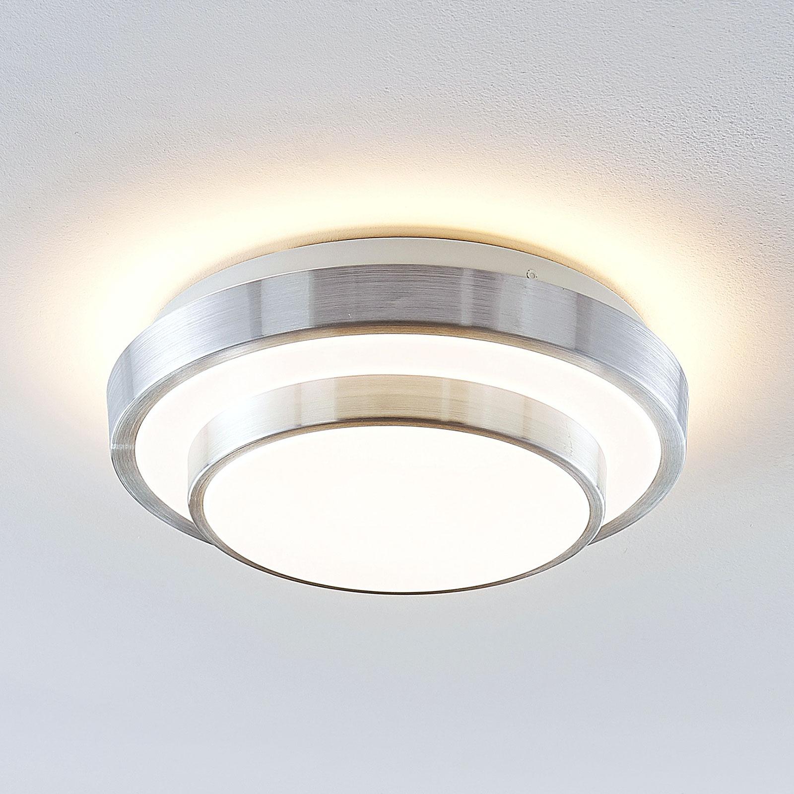 Lindby Naima lámpara de techo LED, redonda 29,5 cm