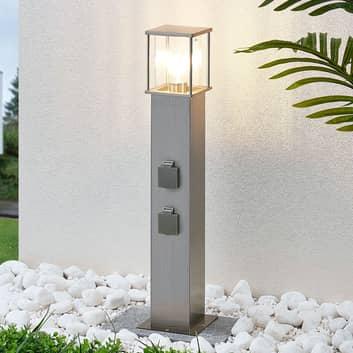 Pullertlampe Caspa med 2 stikkontakter